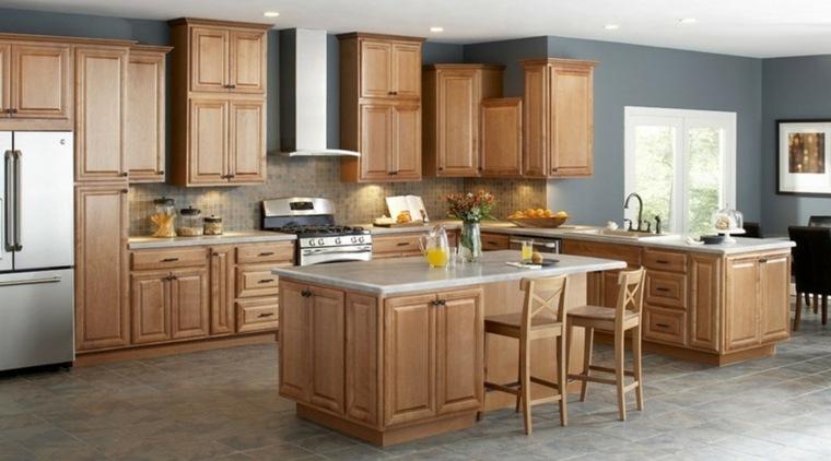 Cocinas modernas baratas para decorar los interiores for Cocinas modernas color madera