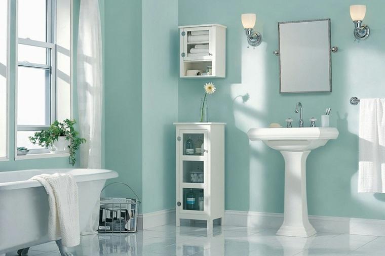 color aguamarina baño