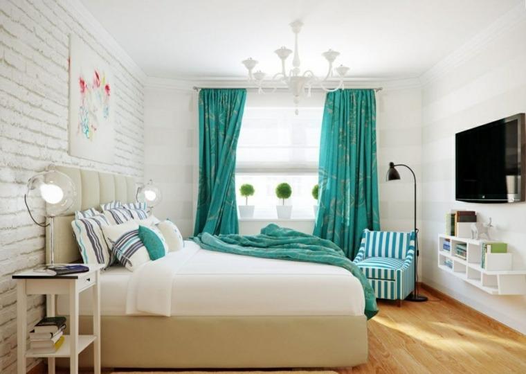 color aguamarina decorar dormitorio
