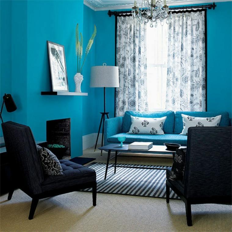 color aguamarina decorar salón