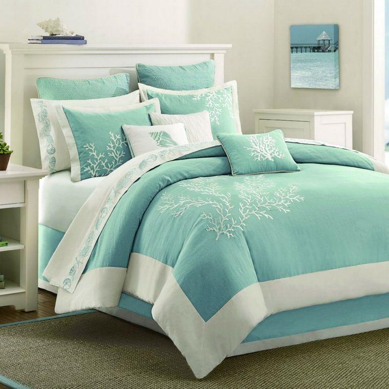color aguamarina dormitorio