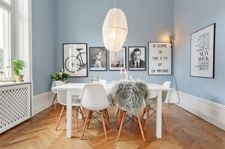 comedor paredes azules Scandinavian Homes ideas