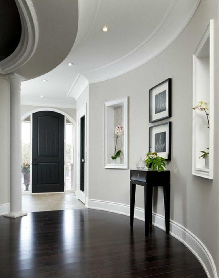 como pintar un pasillo gris claro