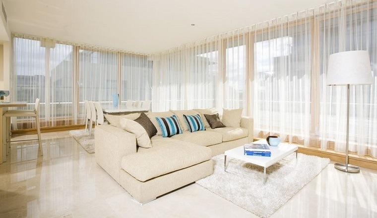cortinas de salón concepto diseno salon blanco Optimise Design ideas