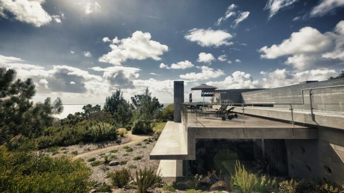 concreto casa especial minimalista plantas