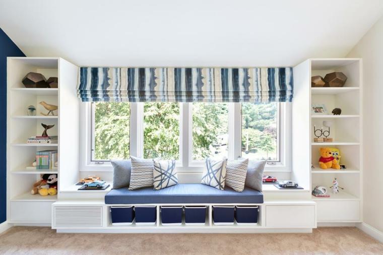 confortable espacio lectura ventana cajones