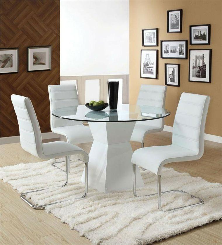 conjunto de sillas comedor blancas