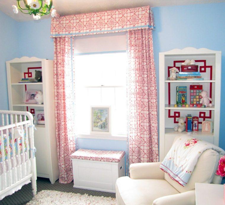 diseño cortina cuarto bebé