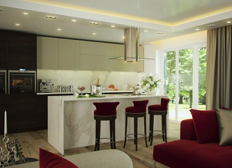 cortina de cocina diseno cocina blanca opciones ideas