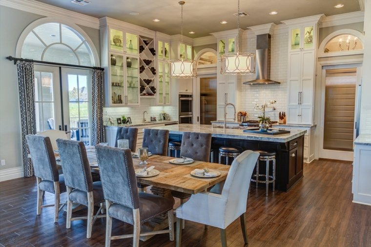 cortina de cocina diseno espacio comedor opciones ideas