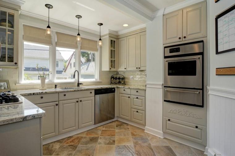 cortina de cocina diseno muebles beiges diseno ideas