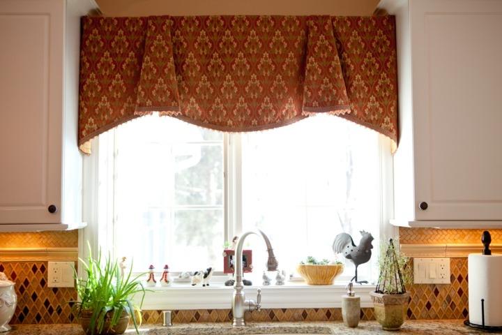 cortina para cocina campo casa plantas