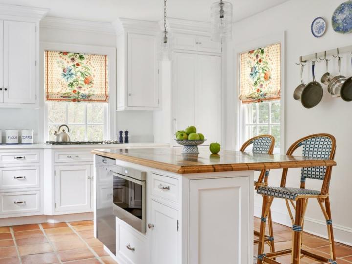 cortina para cocina florales especiales jarrones