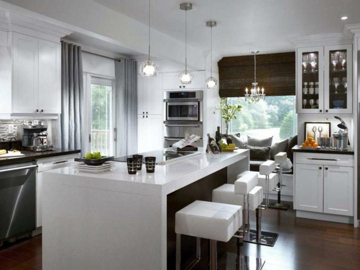 cortina para cocina moderna estilos cojines