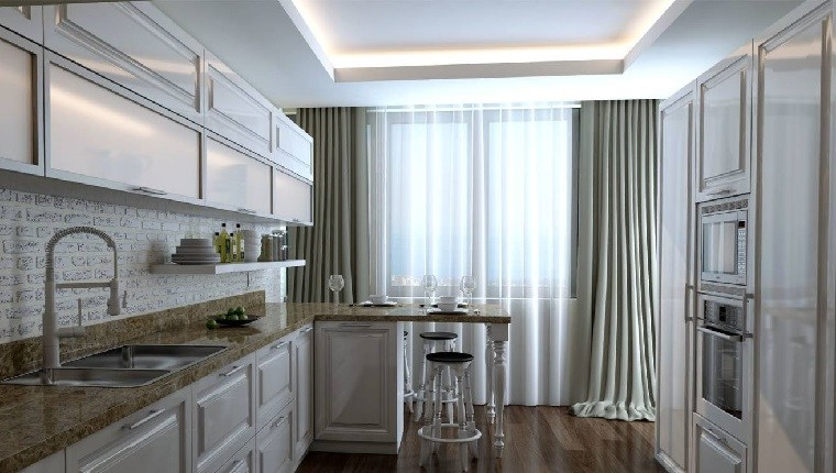 cortinas con diseno-original-cocina-estilo-moderno