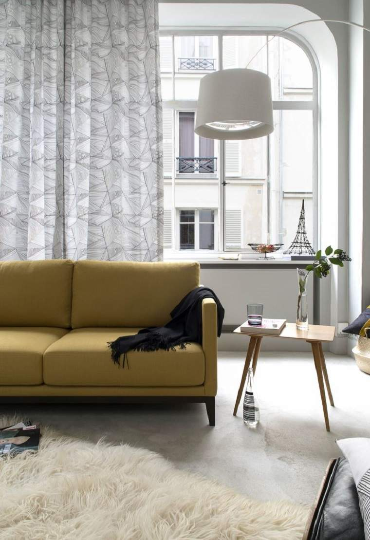 cortinas de salón diseno original moderno opciones espacio estilo ideas