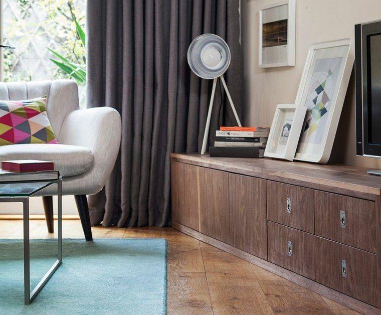 cortinas de salón opciones color gris ideas