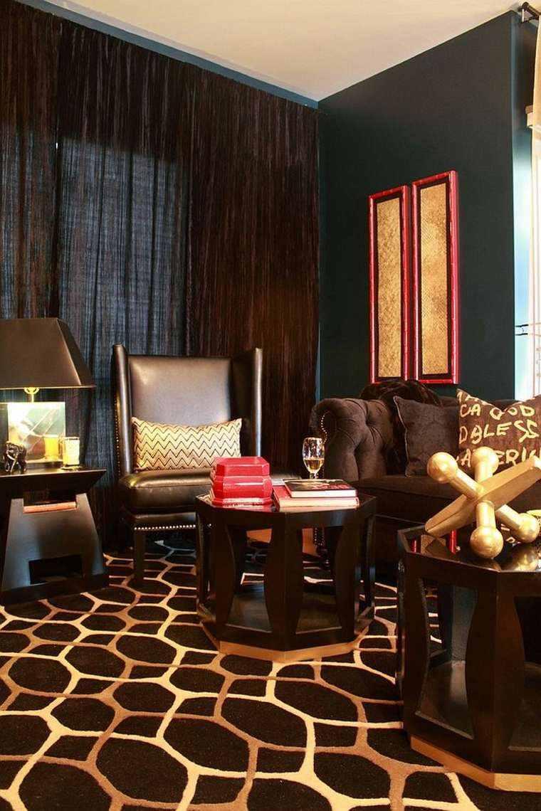 cortinas de salon opciones color marron ideas