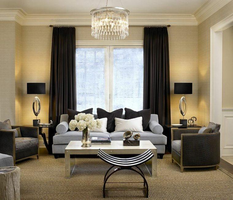 cortinas de salon opciones color negro original ideas