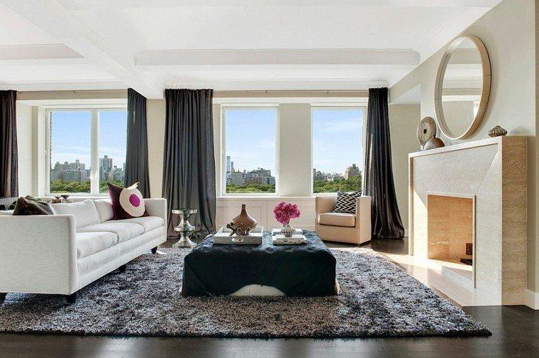 cortinas de salon opciones color negro ideas