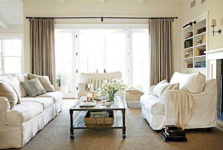 cortinas de salon opciones color tendencias ideas
