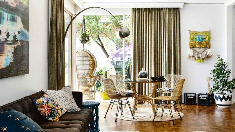 cortinas de salon opciones diseno escandinavo ideas