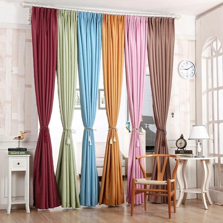 cortinas de salon opciones distintos colores ideas
