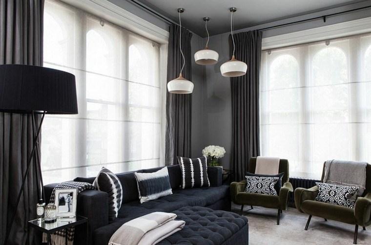 cortinas de salon opciones espacio moderno ideas