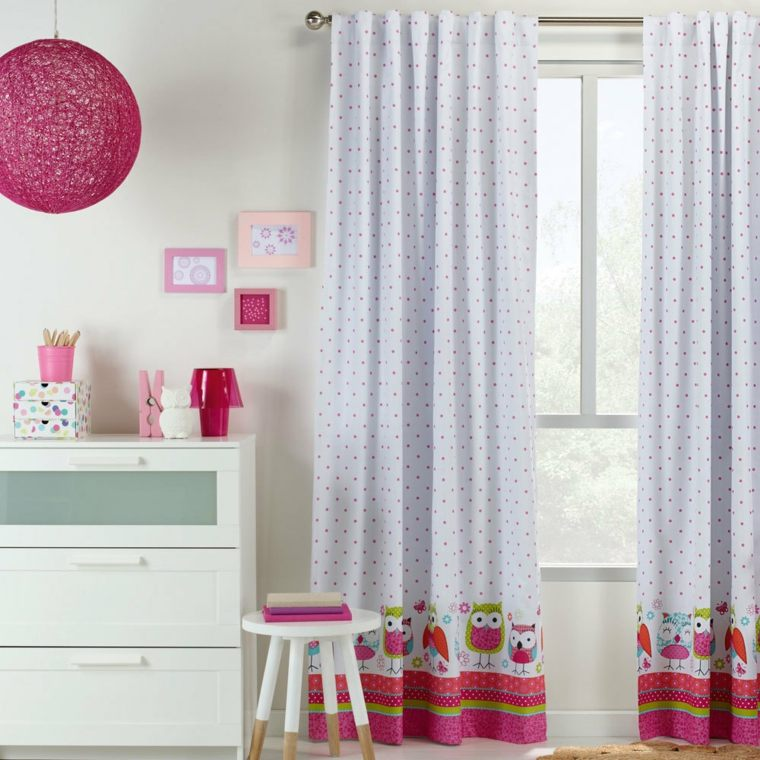 cortinas diseños habitaciones infantiles