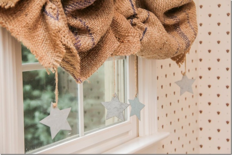 cortinas para ventanas pequeñas de arpillera