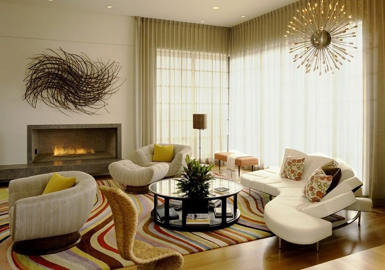 cortinas salon diseno Tommy Chambers Interiors ideas