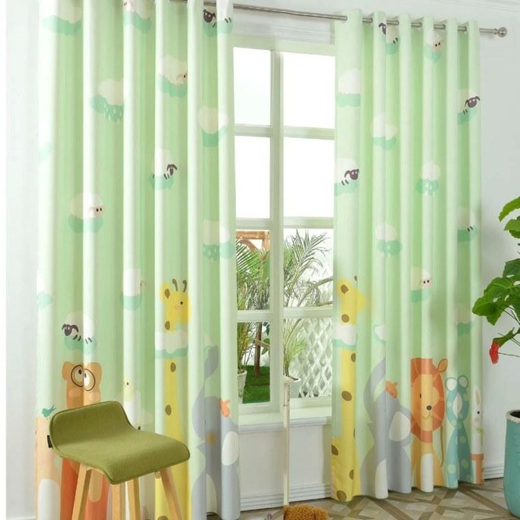 Dise os de cortinas para ni os modelos coloridos y - Cortinas dormitorio infantil ...