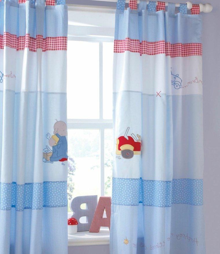 cortinas azules detalles animabos