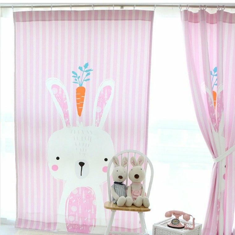 Dise os de cortinas para ni os modelos coloridos y - Cortinas para habitacion de bebes ...