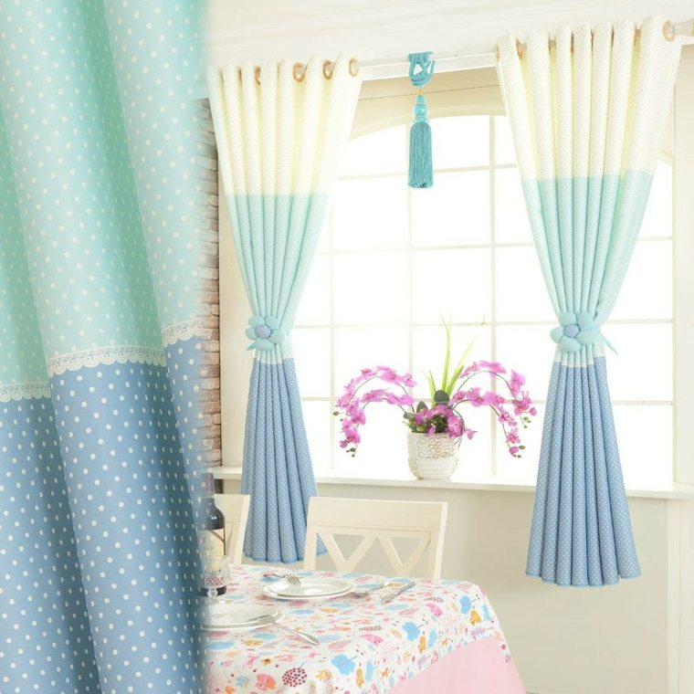Cortinas para ventanas peque as 24 dise os estupendos for Cortinas cortas para dormitorio