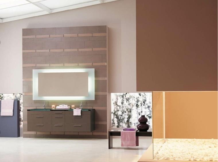 Cuadros para baños modernos para decorar el interior -