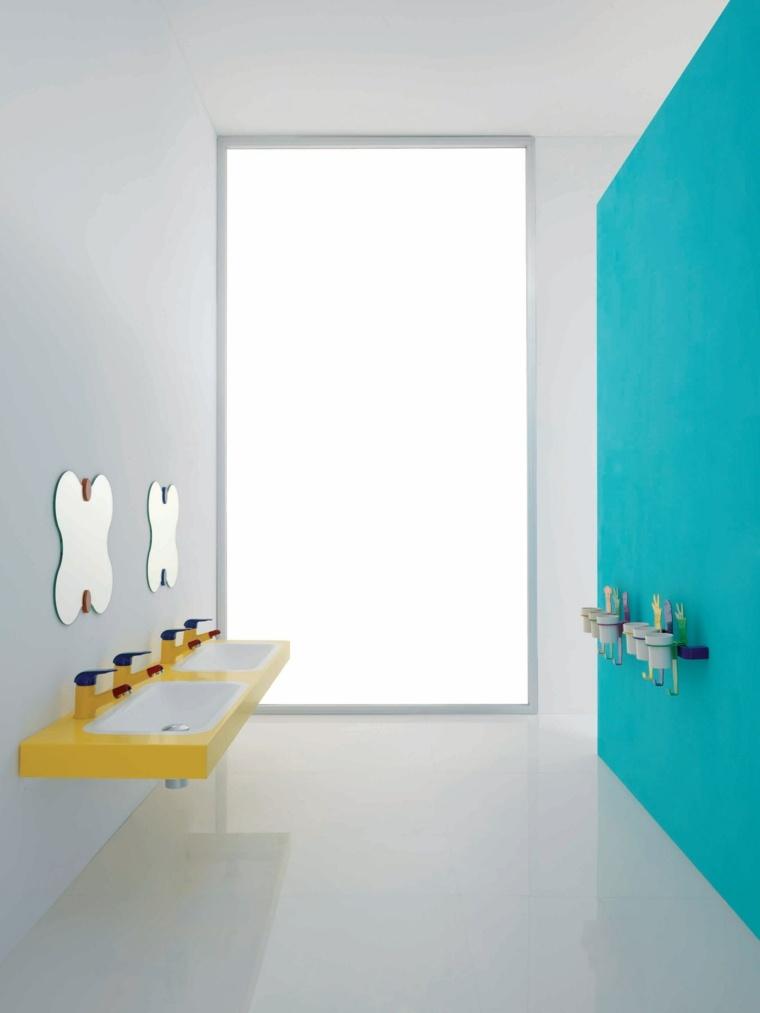 cuarto baño minimalista infantil