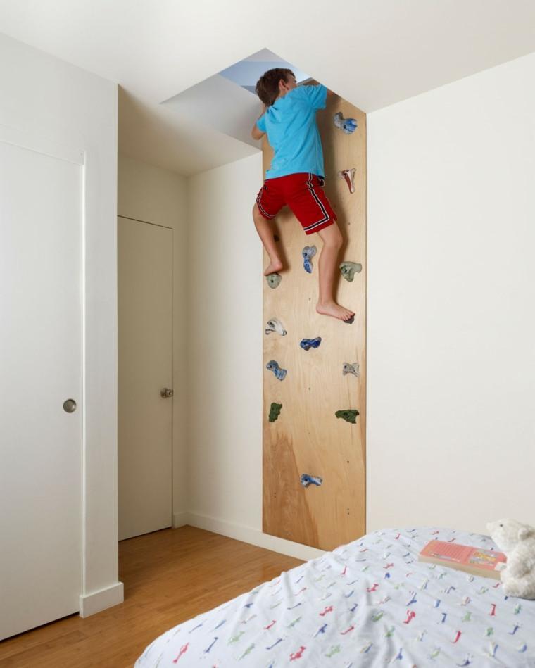 cuarto infantil pared para escalar