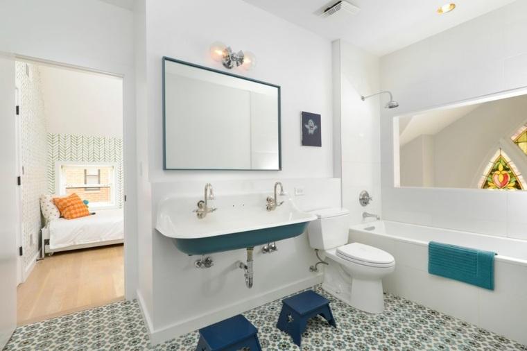 cuarto baño infantil moderno