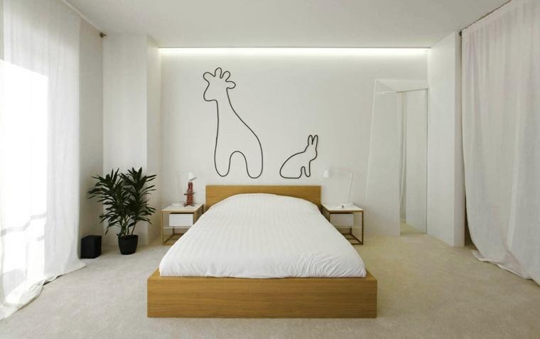 decoración cabecero vinilos animales