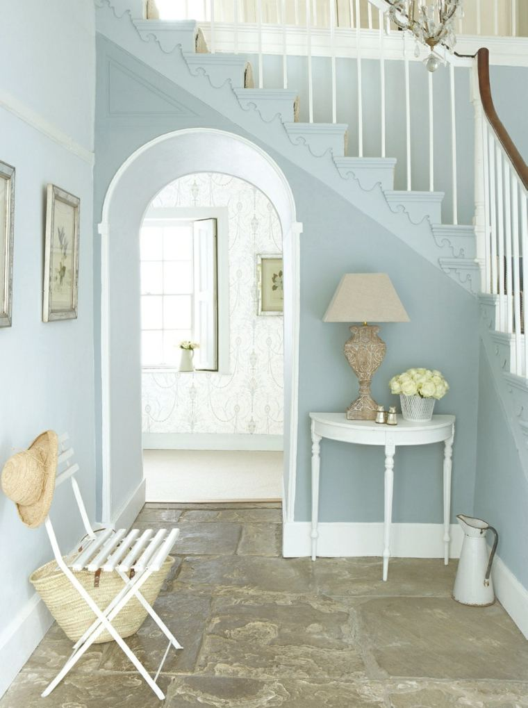 decorar entrada color celeste