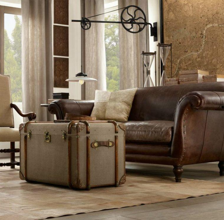 decoración maleta estuilo vintage