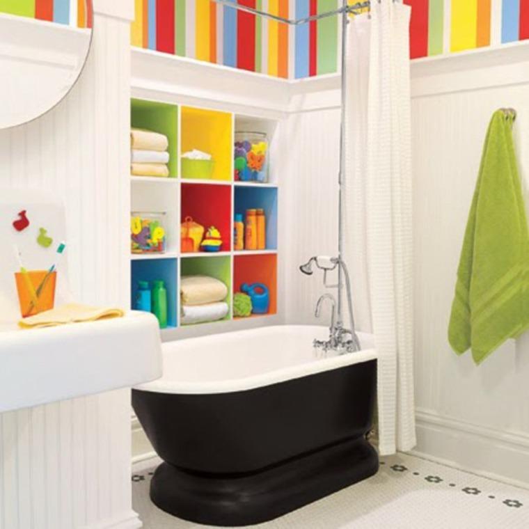 decoración cuarto baño infantil