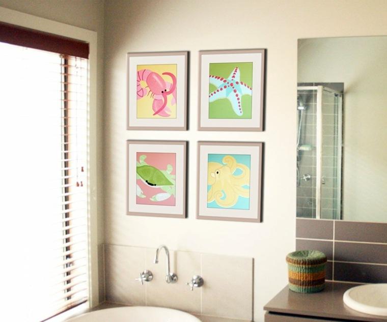 decorar cuarto baño ninos