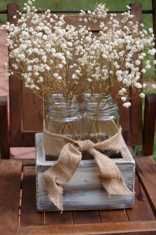 decoracion florero flores blancas