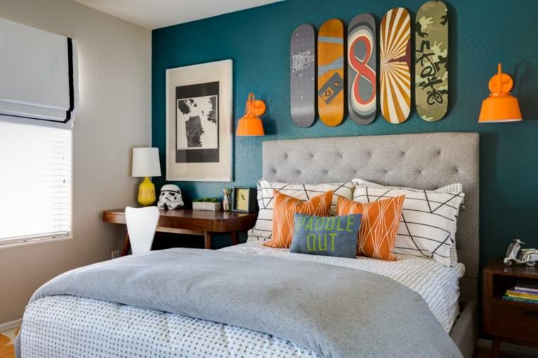 decoración habitación infantil creativa paredes cojines