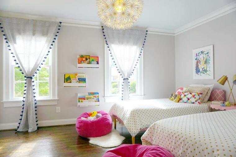 decoración habitación infantil luminosa chicas lamparas