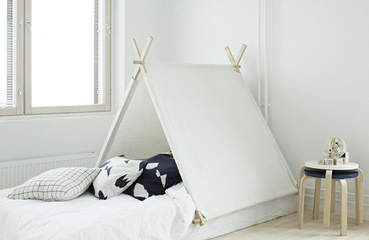 decoración nordica cama ineresante madera