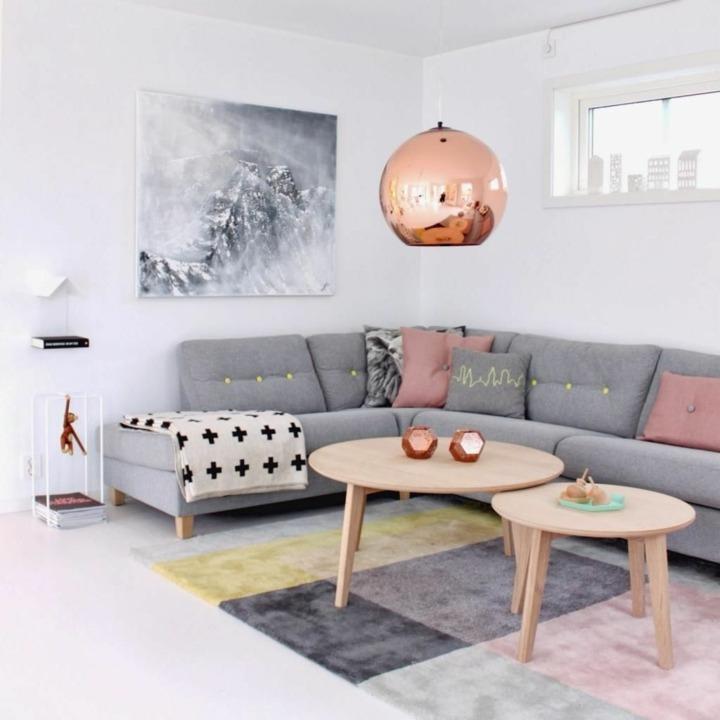 decoración nordica especial dorados rosa