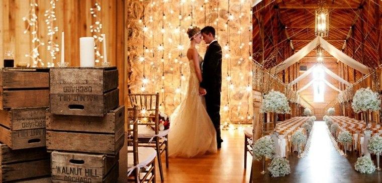 decoración boda rústica ceremonia